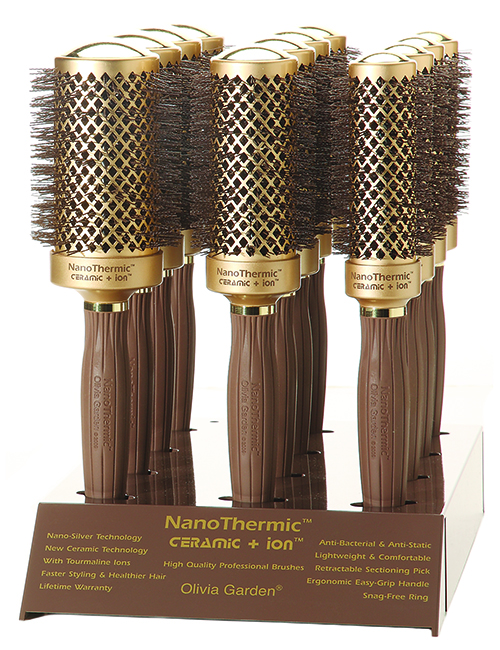 Olivia Garden-Nano Thermic Brush Display-D12