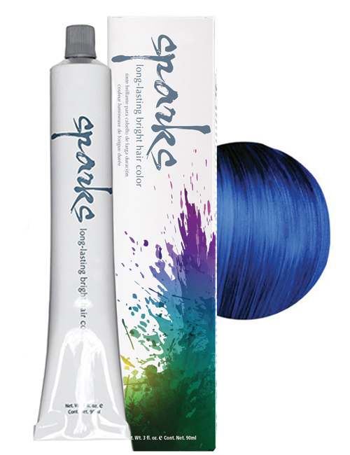 SPARKS-HAIR COLOR ELECTRIC-BLUE