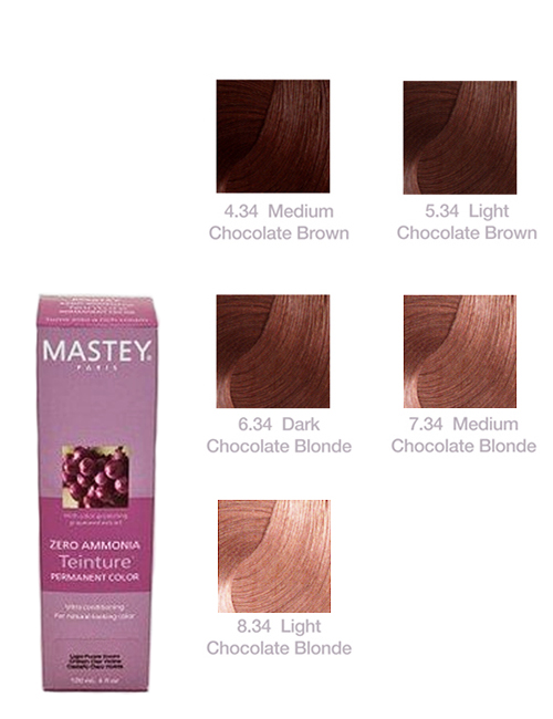 TEINTURE-CHOCOLATE Mastey Teinture Zero Ammonia Hair Color