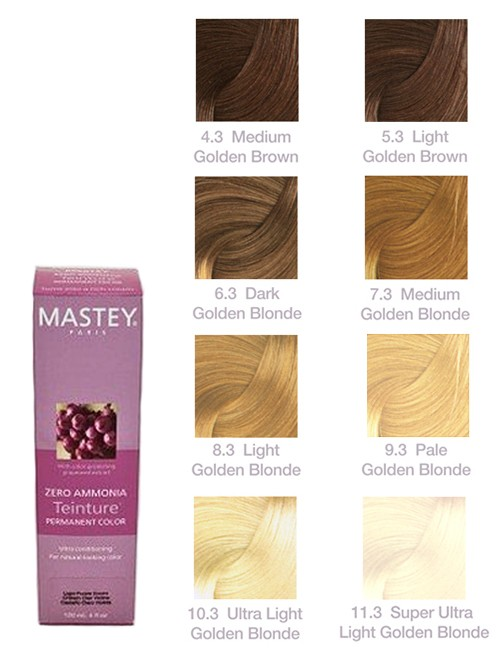 TEINTURE-GOLD Mastey Teinture Zero Ammonia Hair Color