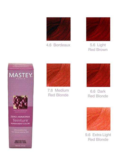 TEINTURE-RED Mastey Teinture Zero Ammonia Hair Color