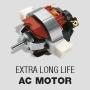 Long-life AC motor