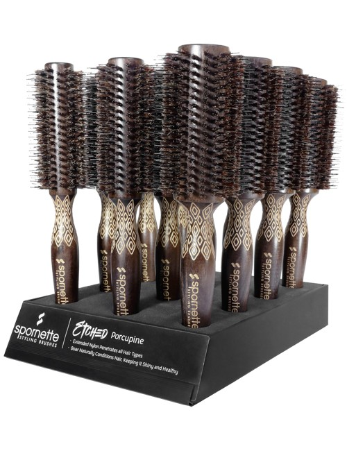 Spornette-Etched-Porcupine-Brush-Display-EP-D12