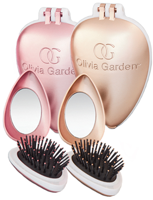 Olivia-Garden-Holiday-Love-Folding-Brush-with-Mirror-Pink-and-Gold
